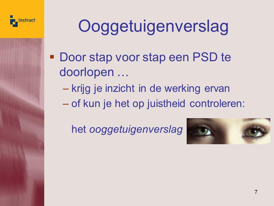 Ooggetuigenverslag Door stap voor stap een PSD te doorlopen …