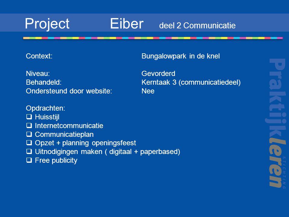 Project Eiber deel 2 Communicatie