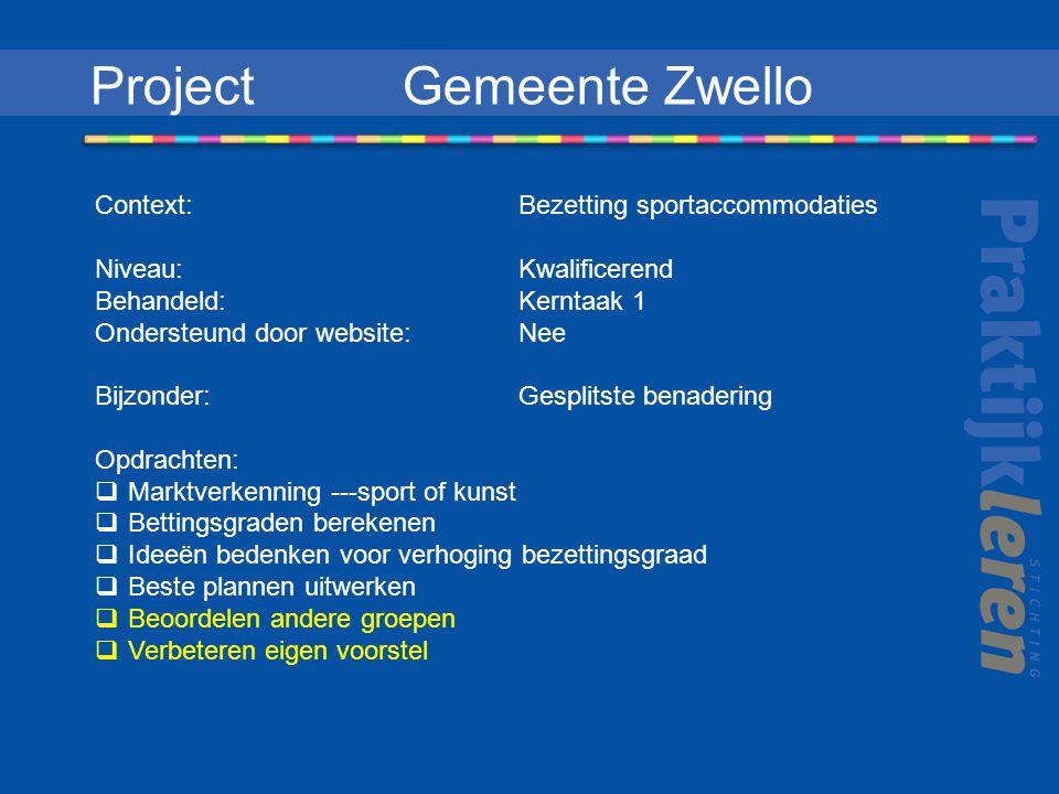 Project Gemeente Zwello