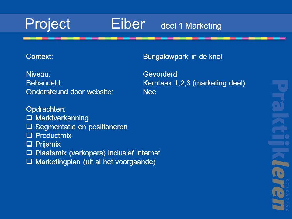Project Eiber deel 1 Marketing