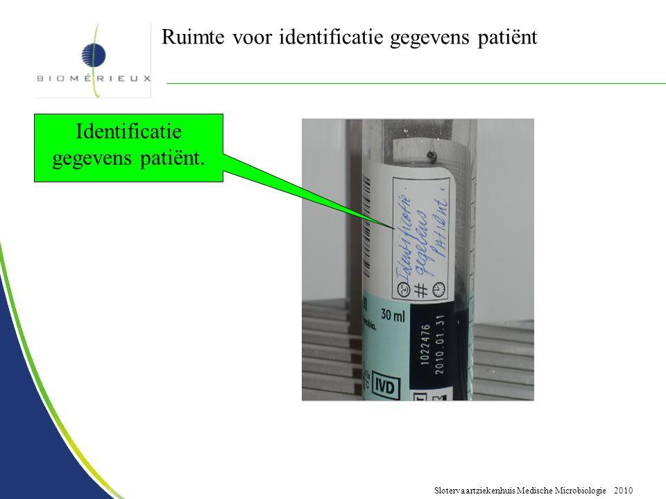 Identificatie gegevens patiënt.
