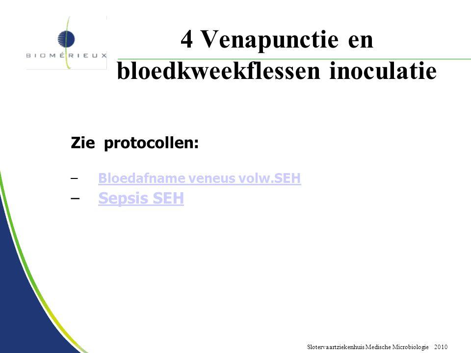 4 Venapunctie en bloedkweekflessen inoculatie