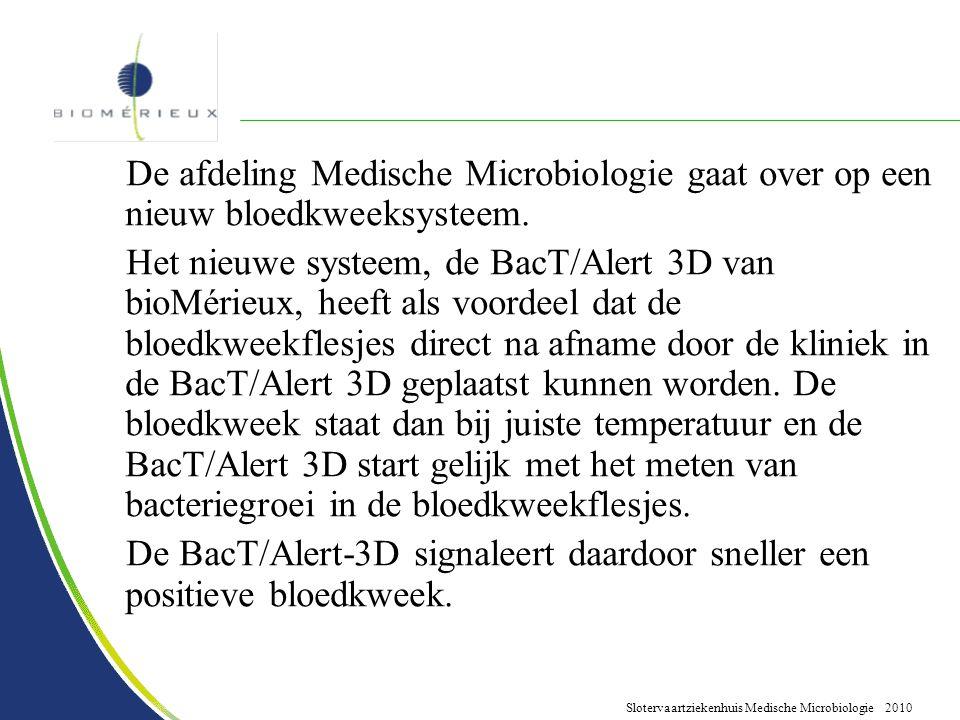 De afdeling Medische Microbiologie gaat over op een nieuw bloedkweeksysteem.