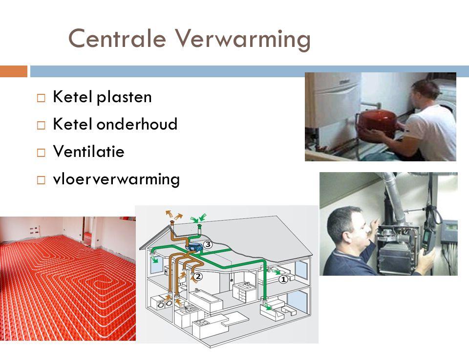 Centrale Verwarming Ketel plasten Ketel onderhoud Ventilatie