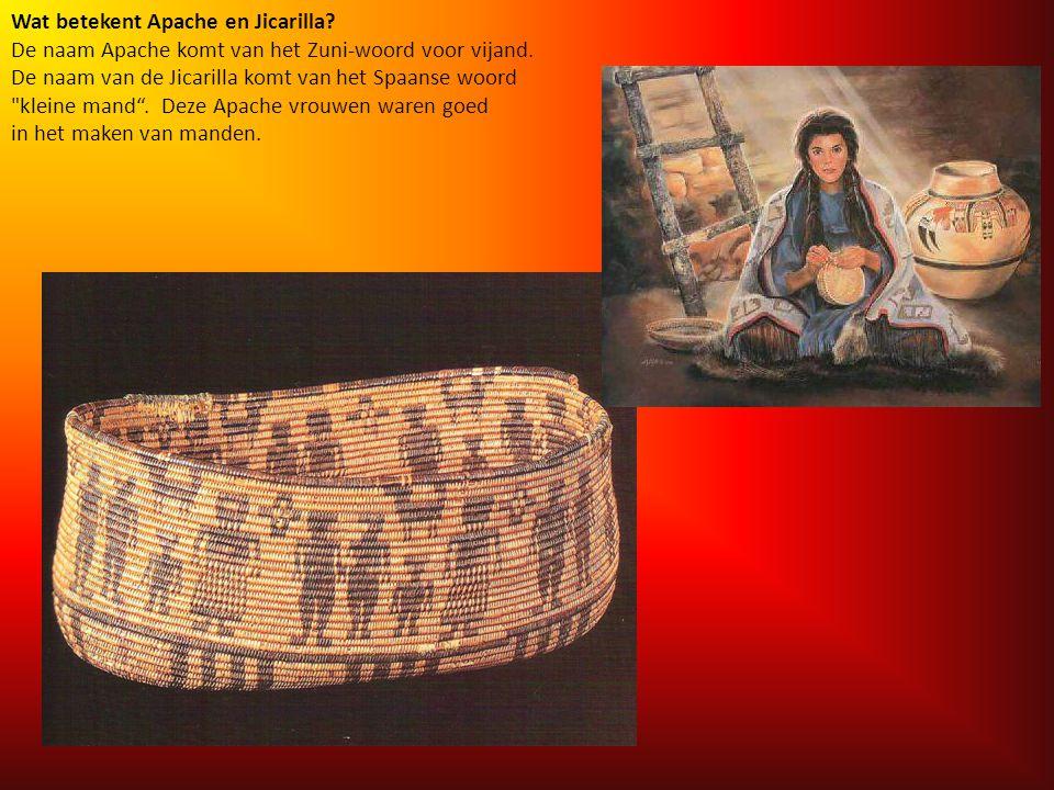 Wat betekent Apache en Jicarilla