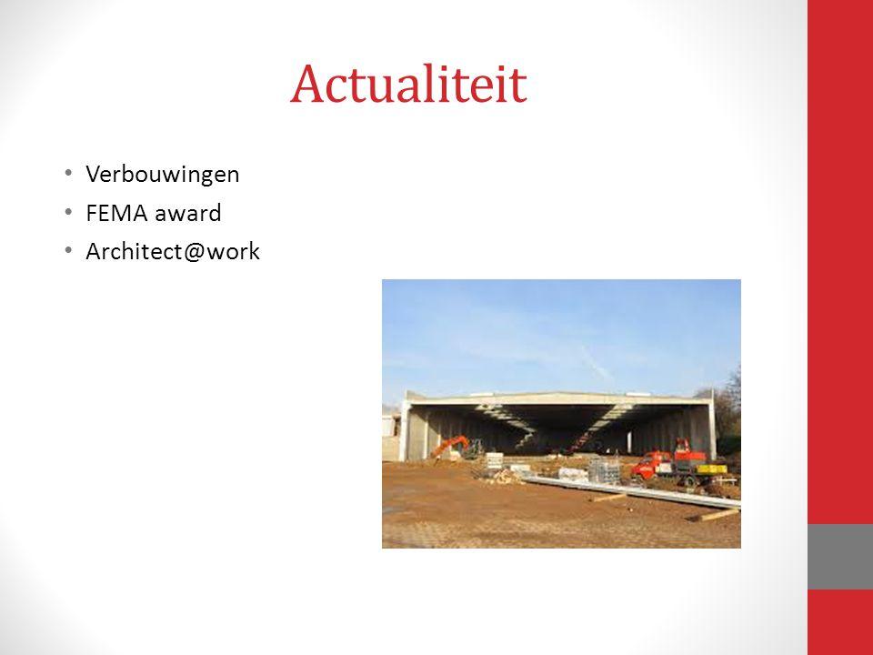 Actualiteit Verbouwingen FEMA award Architect@work