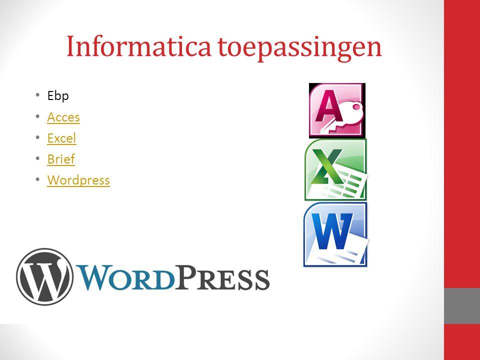 Informatica toepassingen