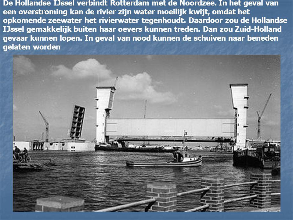 De Hollandse IJssel verbindt Rotterdam met de Noordzee