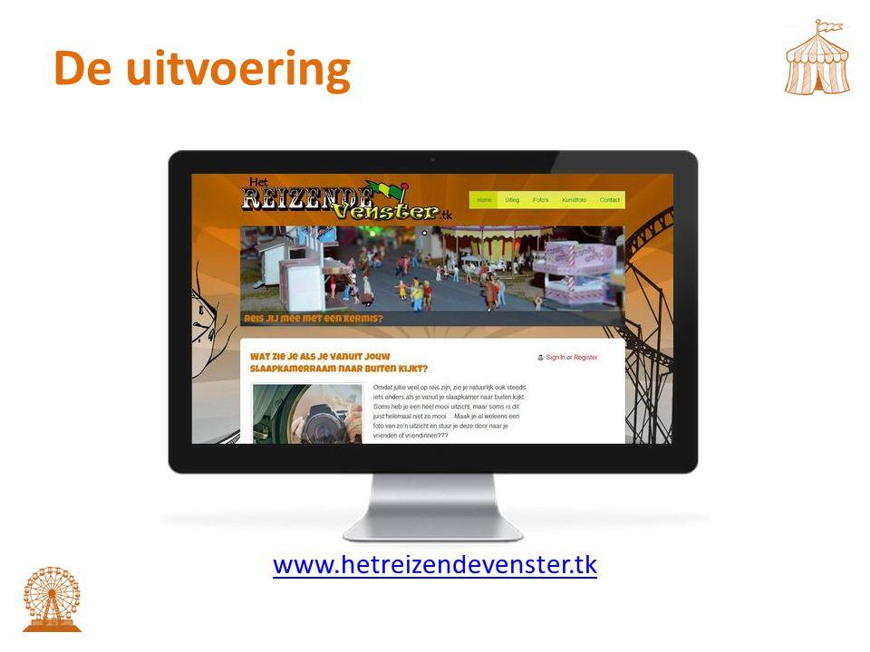 De uitvoering www.hetreizendevenster.tk