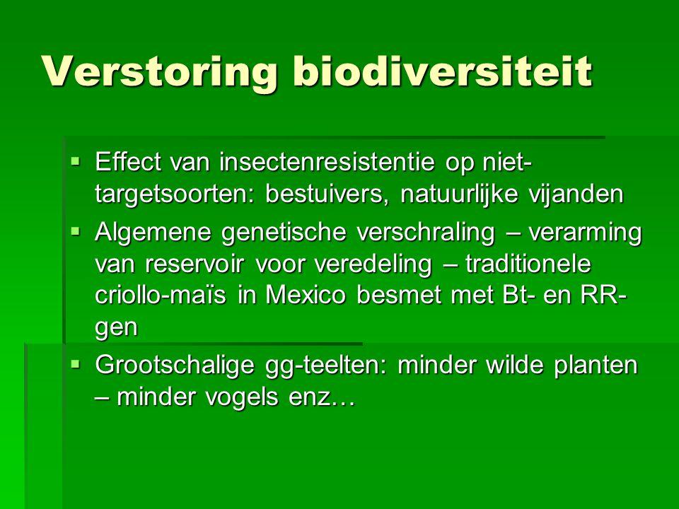 Verstoring biodiversiteit