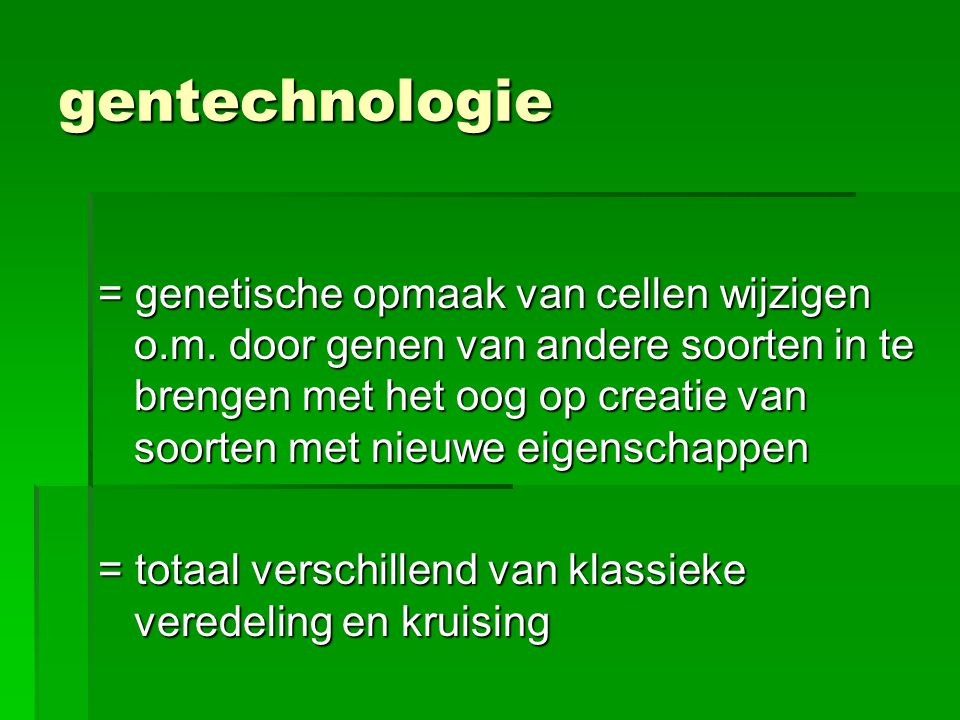 gentechnologie