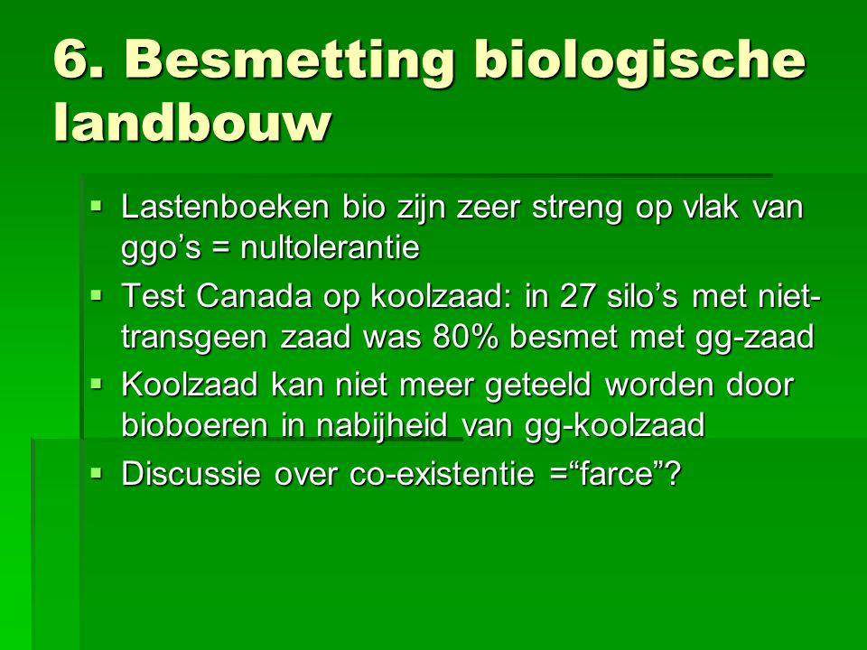 6. Besmetting biologische landbouw