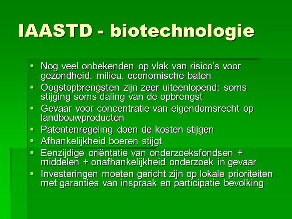 IAASTD - biotechnologie