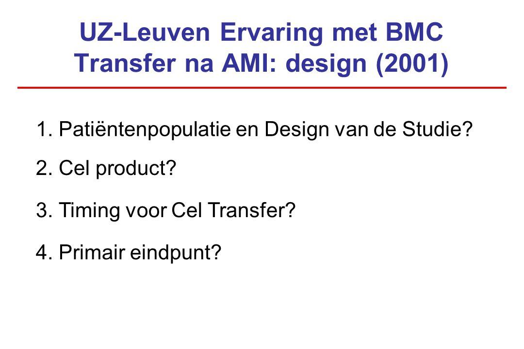 UZ-Leuven Ervaring met BMC Transfer na AMI: design (2001)