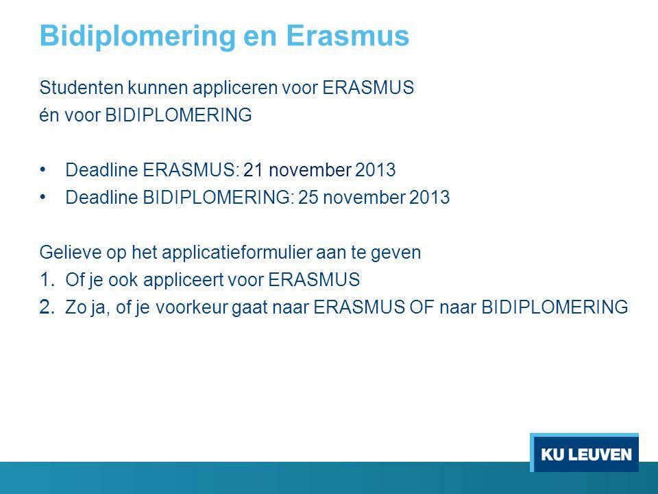 Bidiplomering en Erasmus