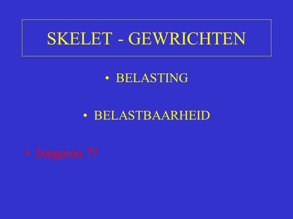 SKELET - GEWRICHTEN BELASTING BELASTBAARHEID Jongeren