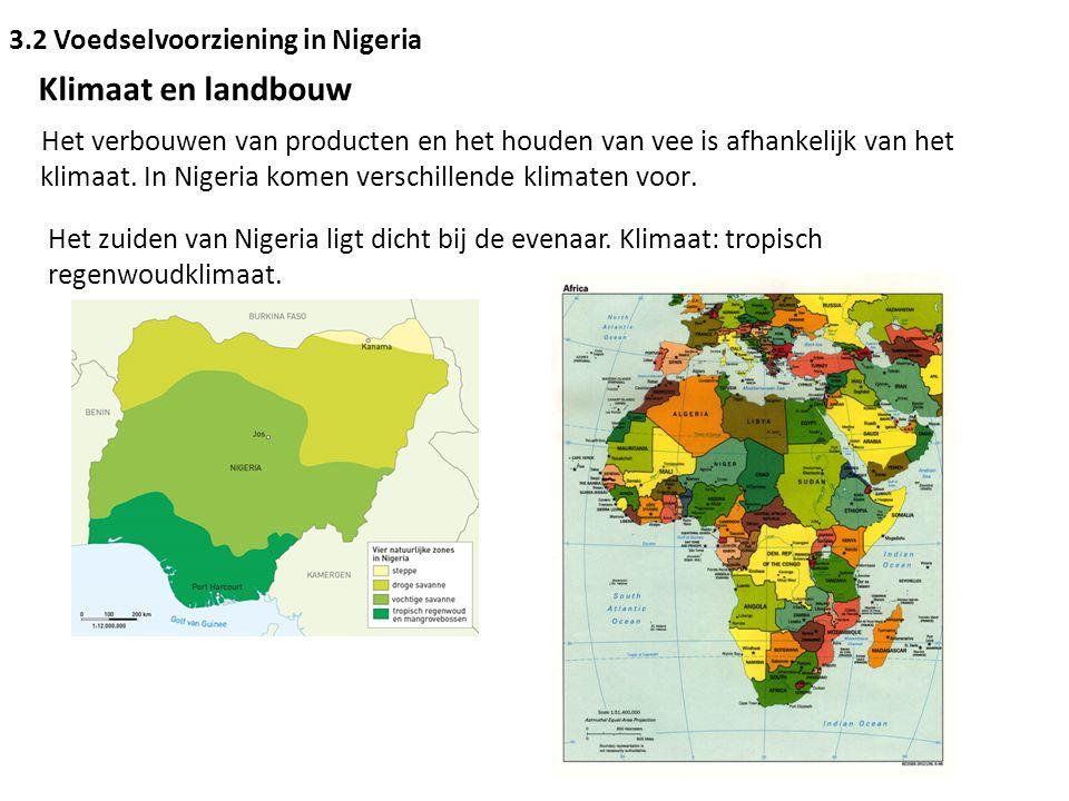 Klimaat en landbouw 3.2 Voedselvoorziening in Nigeria