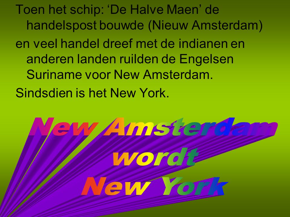New Amsterdam wordt New York