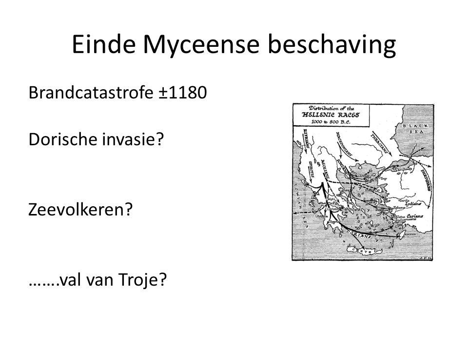 Einde Myceense beschaving