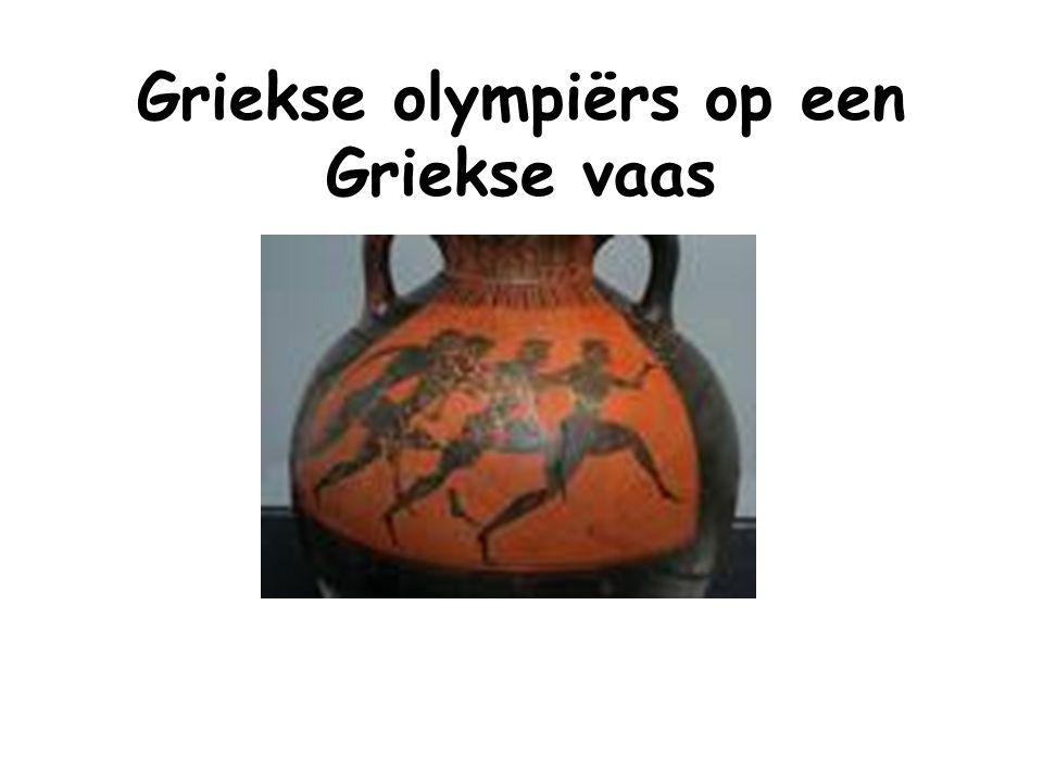 Griekse olympiërs op een Griekse vaas