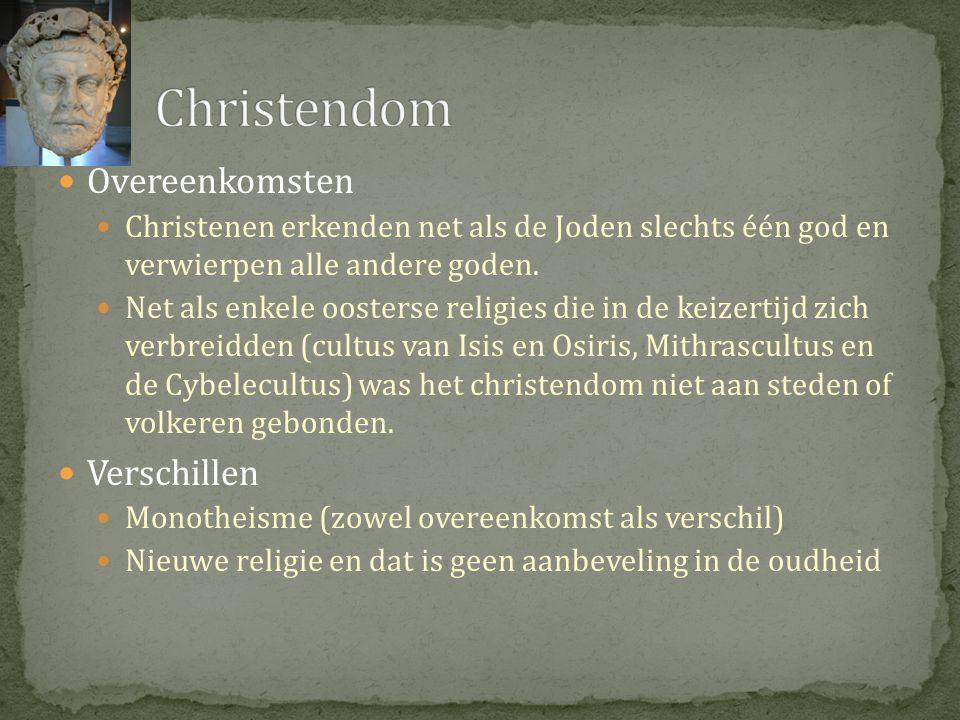 Christendom Overeenkomsten Verschillen