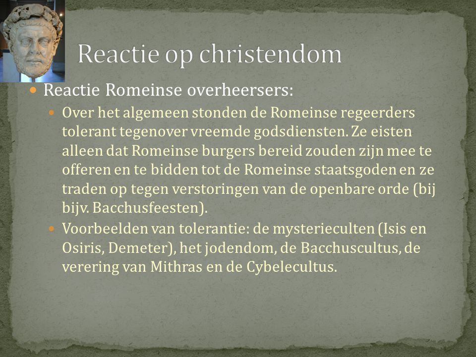 Reactie op christendom