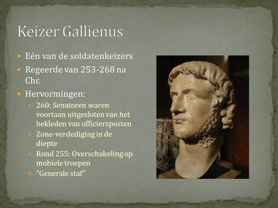 Keizer Gallienus Eén van de soldatenkeizers