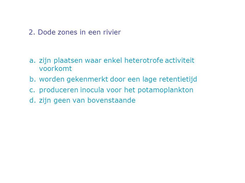 2. Dode zones in een rivier