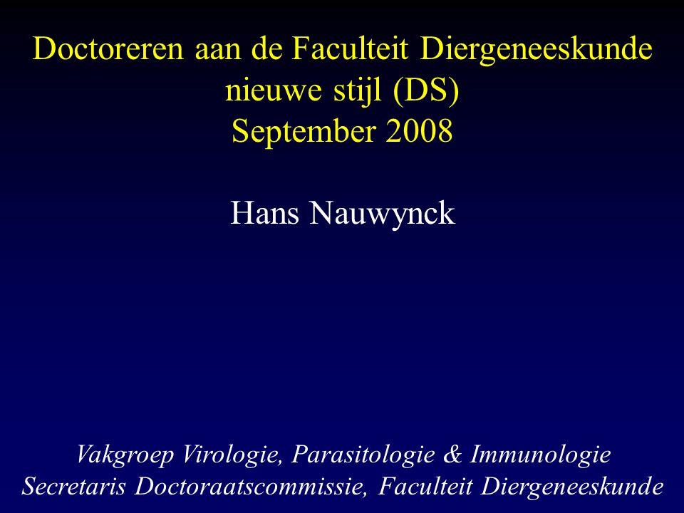 Doctoreren aan de Faculteit Diergeneeskunde nieuwe stijl (DS)