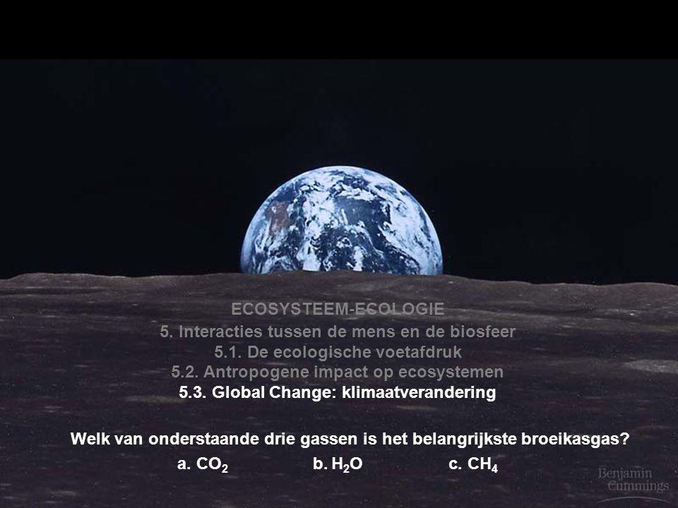 5. Interacties tussen de mens en de biosfeer