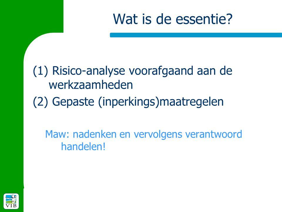 Wat is de essentie Risico-analyse voorafgaand aan de werkzaamheden