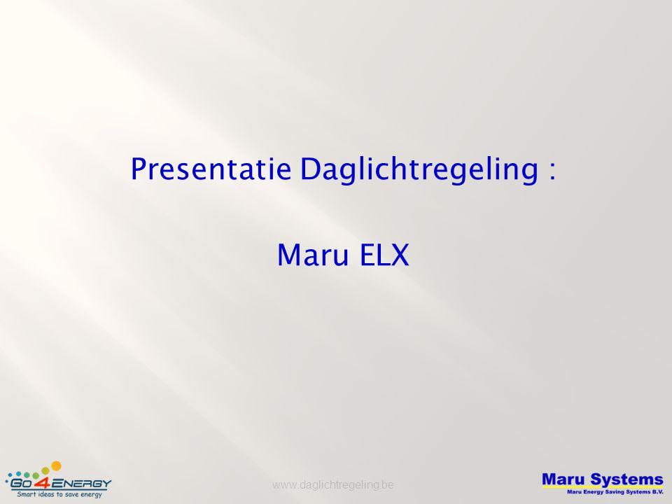 Presentatie Daglichtregeling :