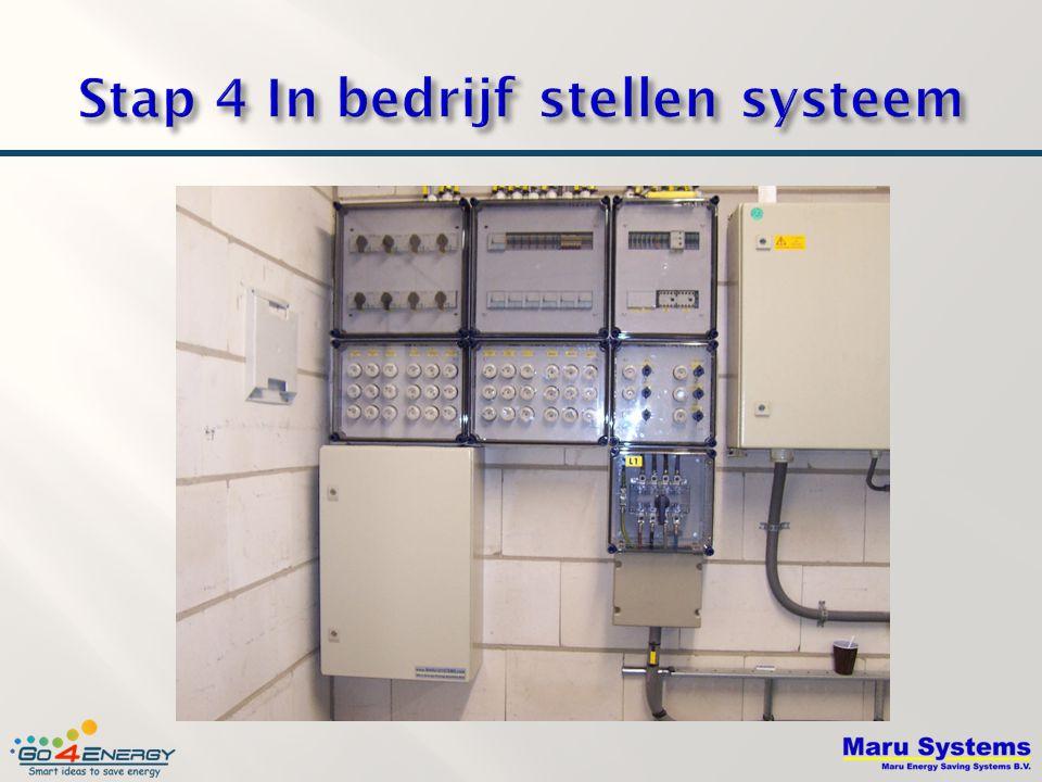 Stap 4 In bedrijf stellen systeem