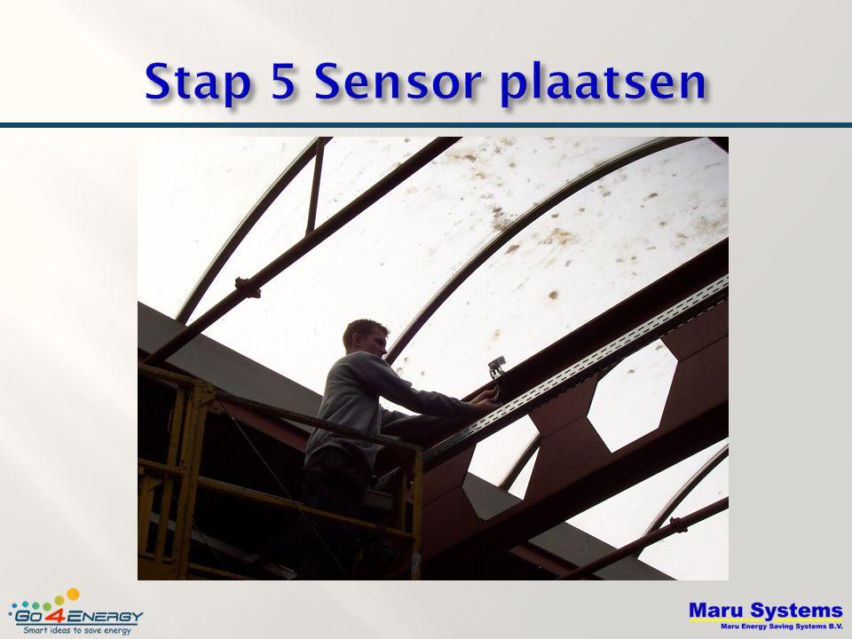 Stap 5 Sensor plaatsen