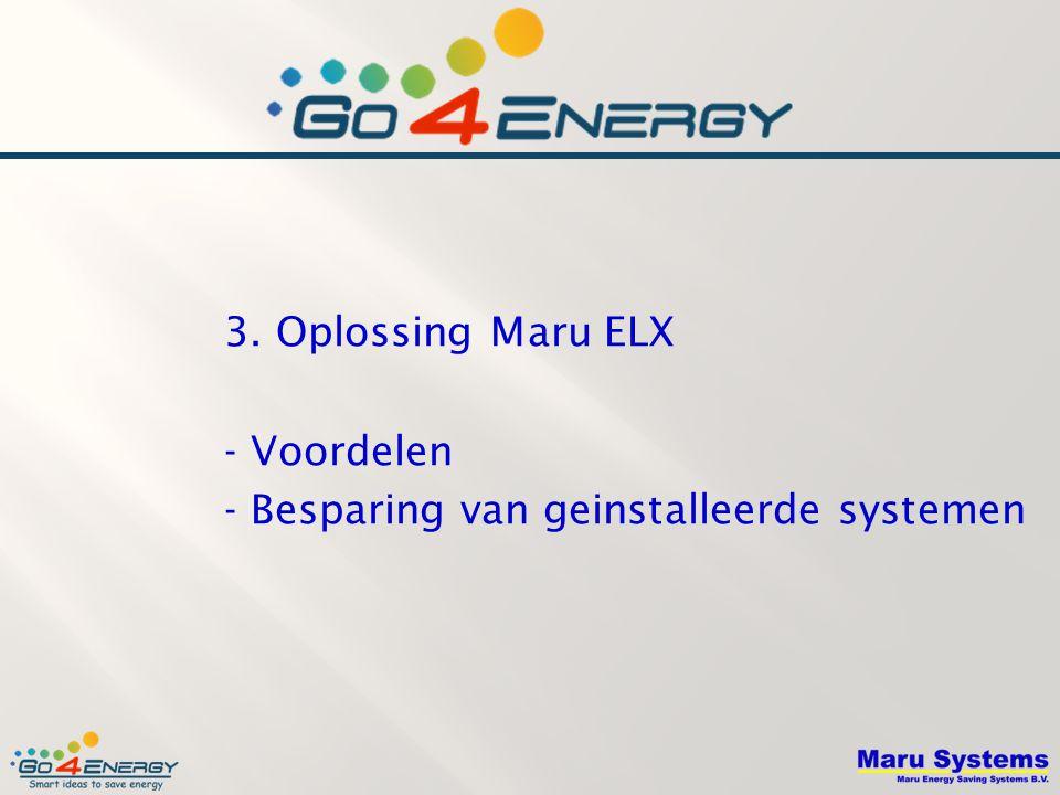 3. Oplossing Maru ELX - Voordelen - Besparing van geinstalleerde systemen