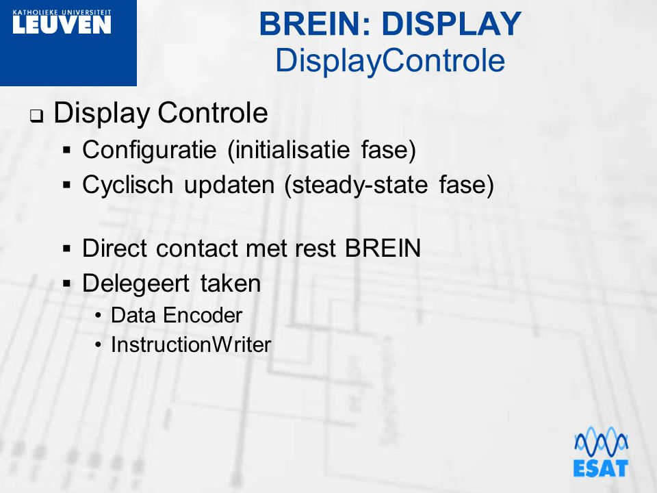 BREIN: DISPLAY DisplayControle