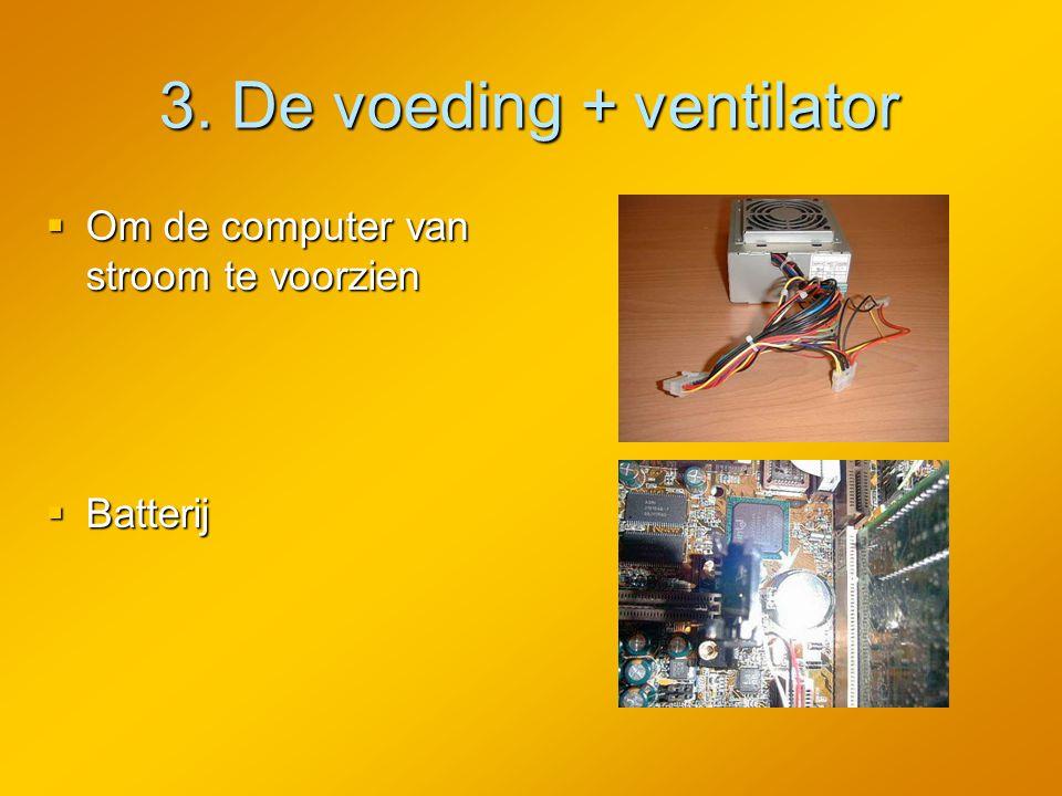 3. De voeding + ventilator