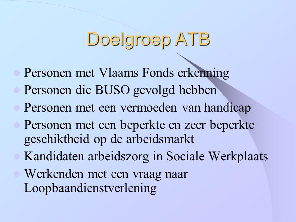 Doelgroep ATB Personen met Vlaams Fonds erkenning