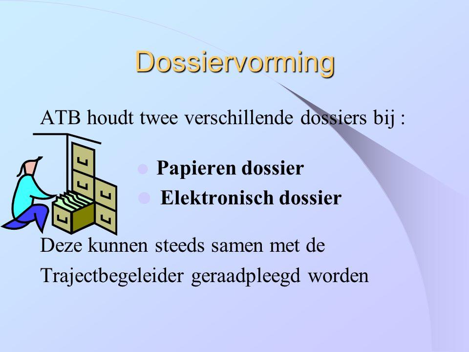 Dossiervorming ATB houdt twee verschillende dossiers bij :