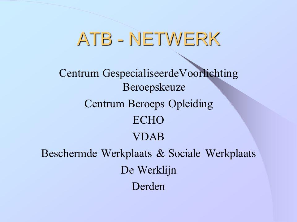ATB - NETWERK Centrum GespecialiseerdeVoorlichting Beroepskeuze