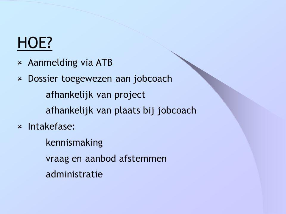 HOE Aanmelding via ATB Dossier toegewezen aan jobcoach