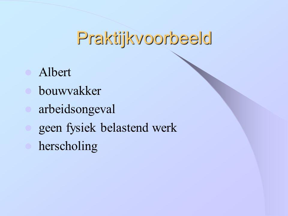 Praktijkvoorbeeld Albert bouwvakker arbeidsongeval