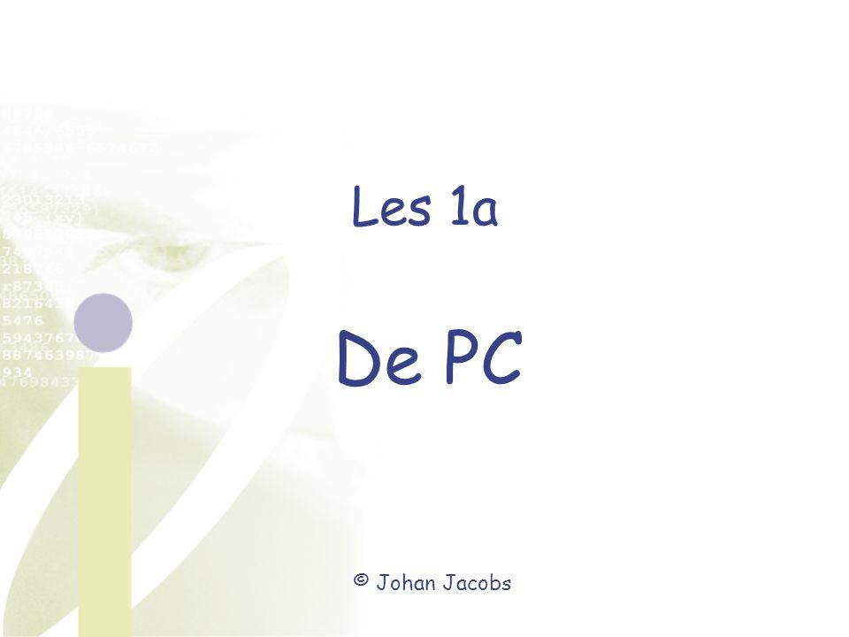 Les 1a De PC © Johan Jacobs