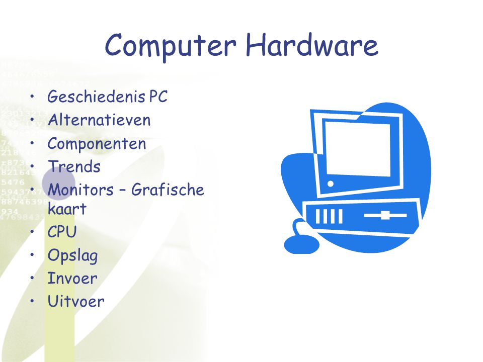 Computer Hardware Geschiedenis PC Alternatieven Componenten Trends