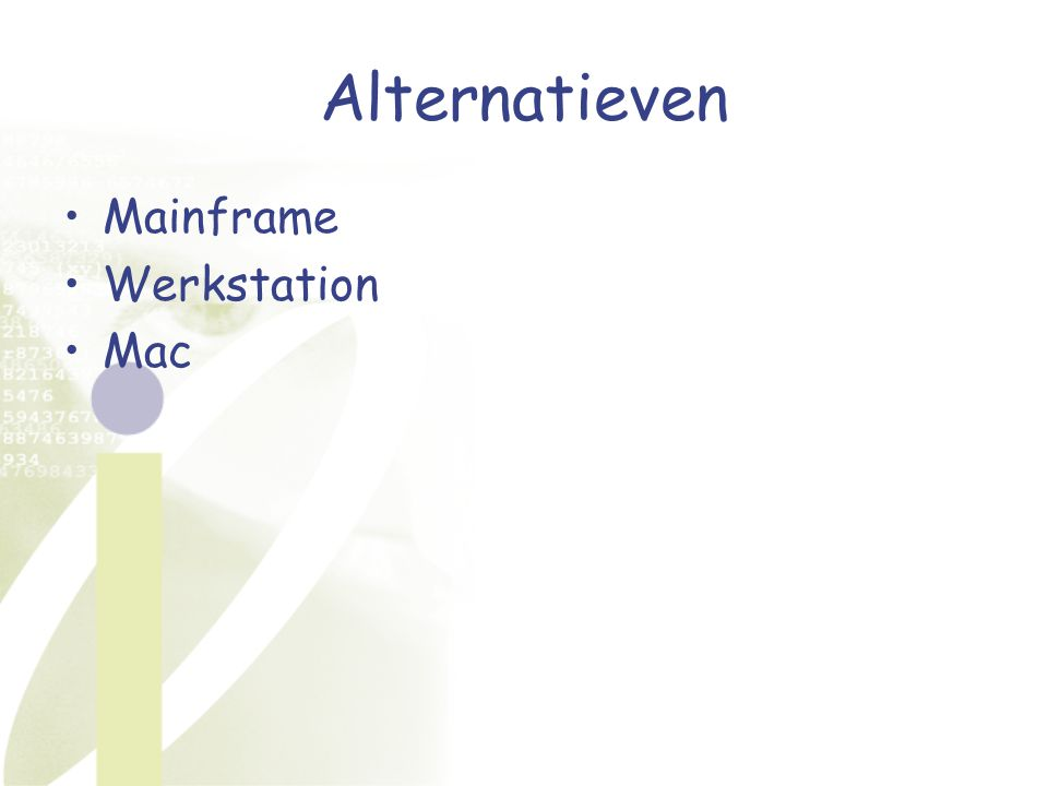 Alternatieven Mainframe Werkstation Mac