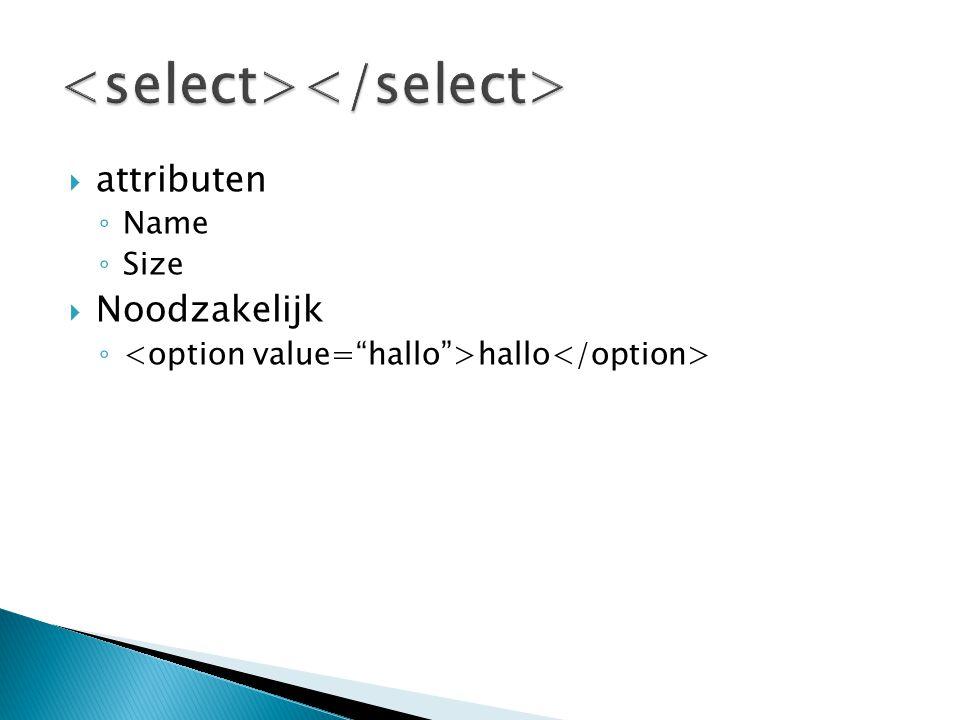 <select></select>