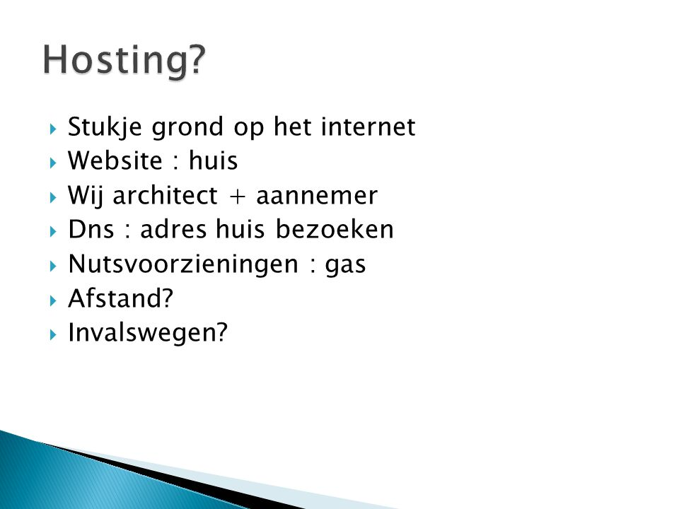Hosting Stukje grond op het internet Website : huis