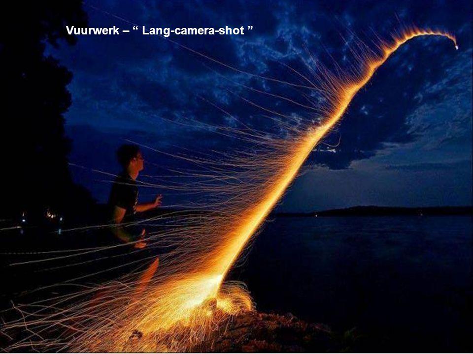 Vuurwerk – Lang-camera-shot