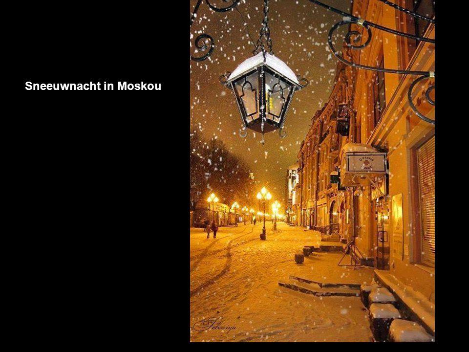 Sneeuwnacht in Moskou