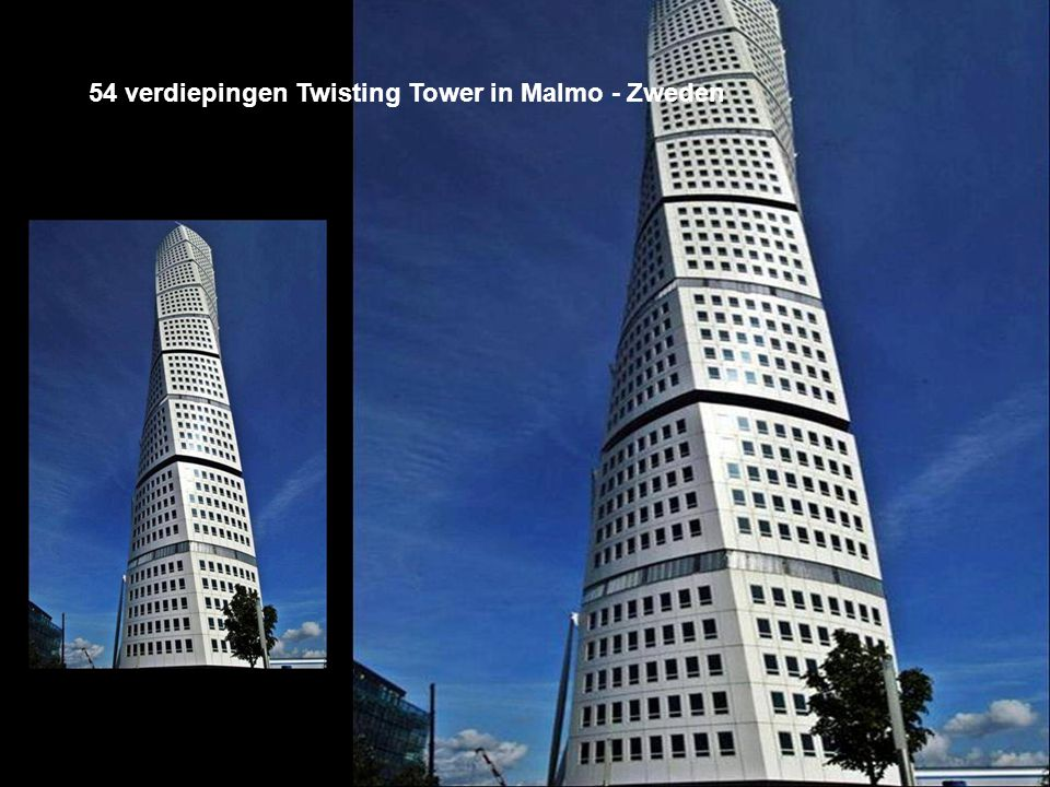 54 verdiepingen Twisting Tower in Malmo - Zweden